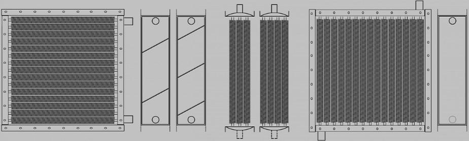 Чертеж воздухонагревателей для воздушно-отопительных агрегатов АО 2