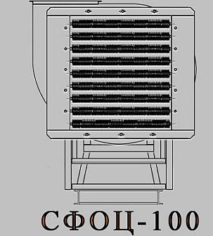 Электрокалориферная установка СФОЦ (ЭКОЦ) 100. Технические характеристики
