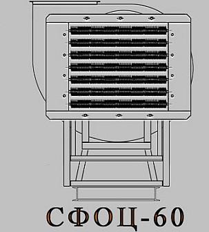 Электрокалориферная установка СФОЦ (ЭКОЦ) 60. Технические характеристики