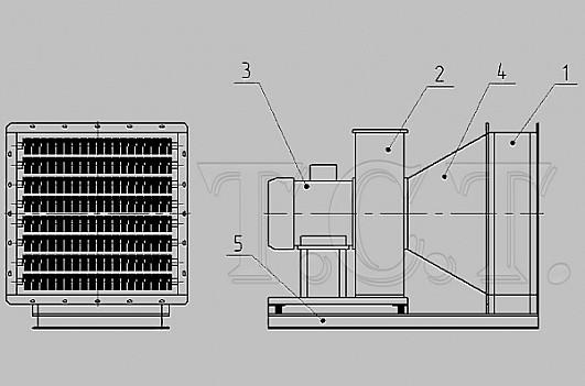 Схема электрокалориферной установки СФОЦ (ЭКОЦ)