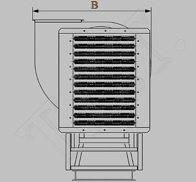 Технические характеристики электрокалориферных установок СФОЦ